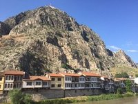 Old Town of Amasya with Pontic Tombs Above & On Rock Summit Amasra Castle