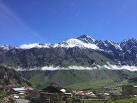 Kazbegi Valley - Looking Towards Hote in Far Distance