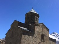 Tsminda Sameba Church - Note the Grapevine Cross on Roof