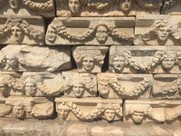 Pieces of Wall Frieze Identified, Classified & Stored for Re-Construction - Afrodisias