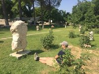 Oxford Archaelogist Contemplating Unpublished Ruin - Afrodisias