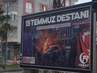 Bergama Street Advert Condemning Last Year's Failed Coup'd'Etat.