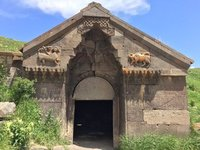 The Only Entrance to Caravanserai & the Only Decorative Carving