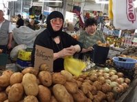 Potato Lady at Kutaisi Market
