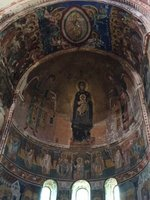 World Famous Fresco of Virgin & Child & Archangels in Gelati Church