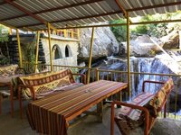 Our Hotel Terrace Beside Mountain Stream