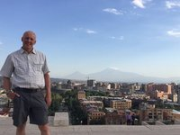 AG, Cityscape & Mts Ararat - View from Top of Yerevan Cascade