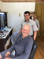 Looking Happy with His Azeri Haircut