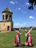 Dancers in Traditional Costume at Gelati Monastery