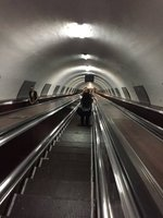 Tbilisi Metro Goes Very Deep - 2 Minutes on Escalator
