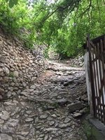 Many Old Cobbled Footpaths Criss Cross Old Town Safranbolu