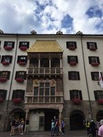 Gothic Window with Over 2500 Copper Tiles in Old Town Innsbruck