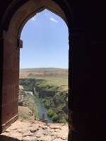 View From Cathedral Looking Over River Akhurian Which Forms Natural Border Between Turkey & Armenia