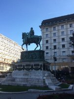 Republic Square Belgrade, the Inevitable Man on a Horse