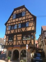 A Typical a Half Timbered Building in Alsacien Town