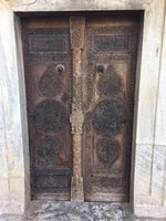 Heavily Carved Door of the Mahmut Bay Mosque
