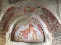 Illicit Photo of 12C Fresco in Goreme Cave Church