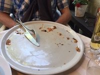 After Pizza - a clean plate