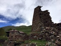 Old Stone Tower in Truso Valley