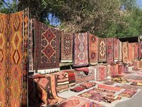 Carpets for Sale in Vernissage, A Weekend Market in Yerevan