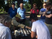 Old Serbian Man Challenges a Student to Chess Game
