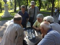 Chess Match in Fortress Park