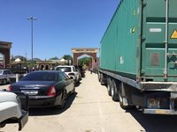 Queuing with Trucks to Leave Azerbaijan