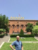 AG in Front  of Ararat  Brandy Factory - Real Landmark in the Physical & Spiritual Meaning!