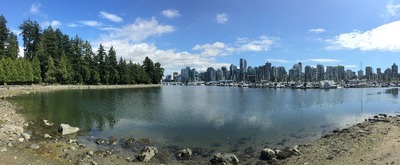 One of the beautiful bays on the Seawall