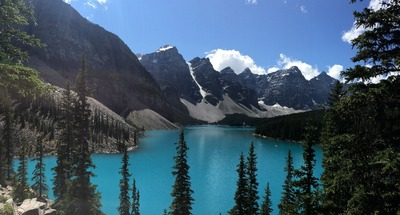 Moraine Lake and some of the Ten Peaks
