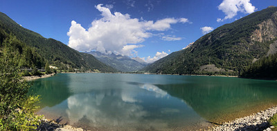 Lago di Poschiavo on the way to Livigno