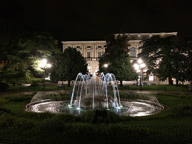 Fountain of the Alps in Piazza Bra, Verona
