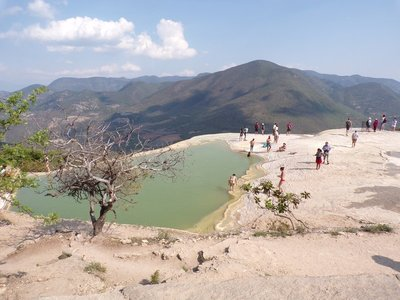 The inifinity pool - beautiful at Hierve el Agua
