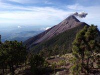 Morning view of Volcano Fuego