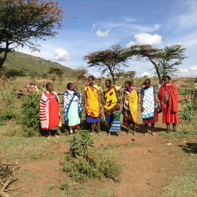 female masai greeting