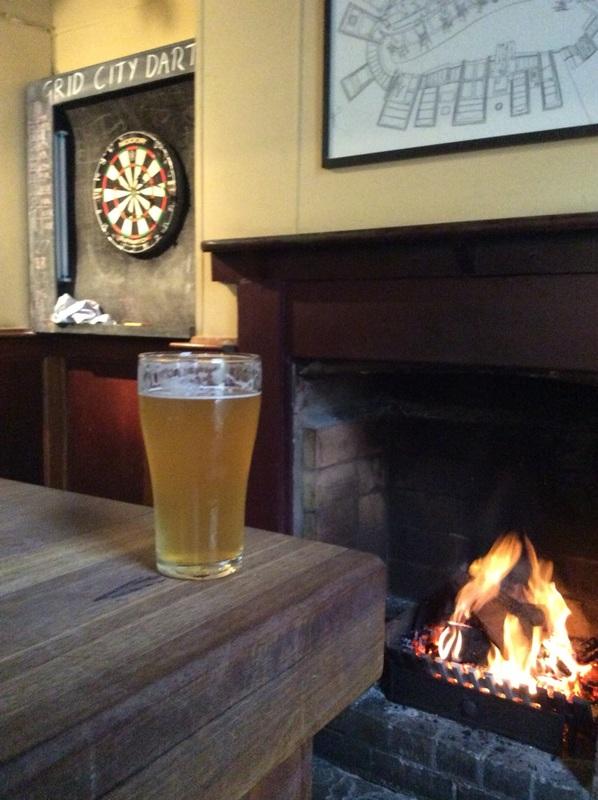 a winter's pub scene