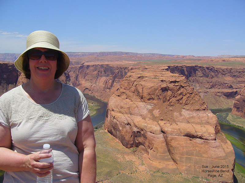 Sue at Horseshoe Bend in Glen Canyon NRA