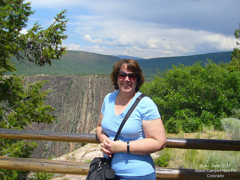 Sue in Black Canyon of the Gunnison National Park