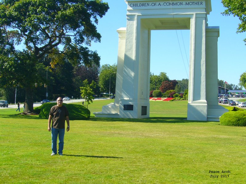 Jerry at Peace Arch