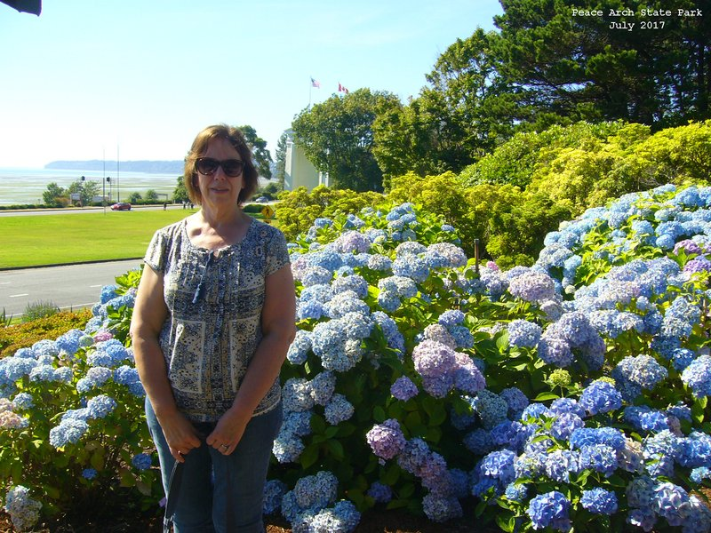 Sue at Peace Arch