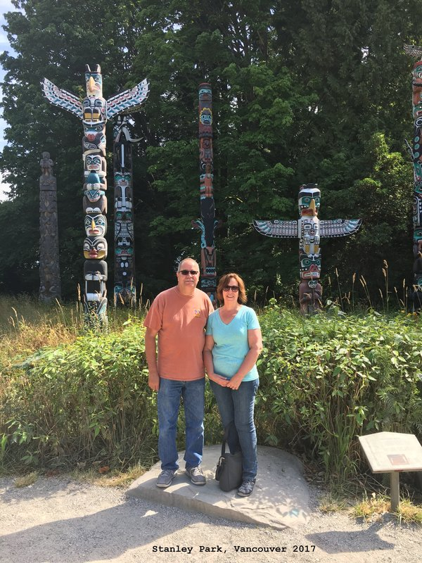 Jerry   Sue in Totem Pole area of Stanley Park Vancouver