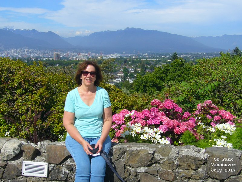 Sue in Queen Elizabeth Park Vancouver