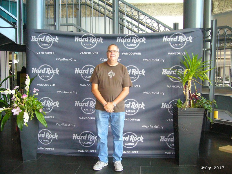 Jerry at Hard Rock Vancouver - Our 33rd Hard Rock