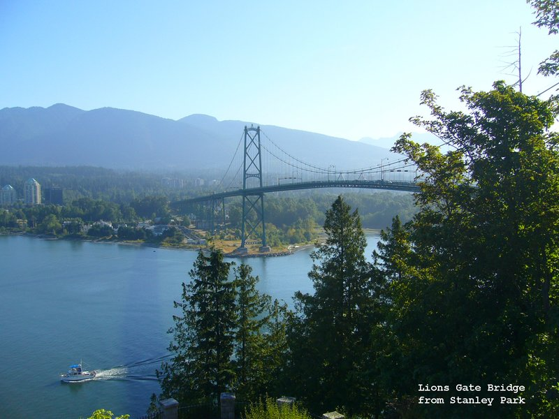 Lions Gate Bridge from Prospect Point - Stanley Park Vancouver
