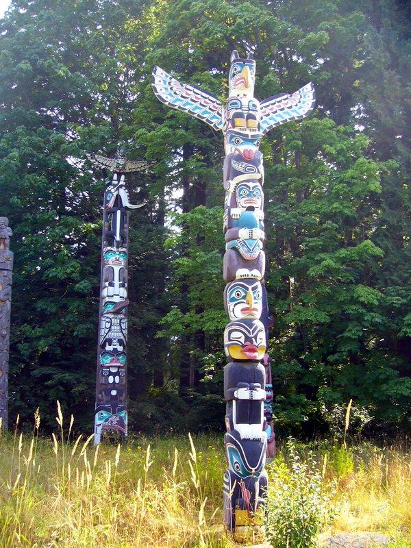 Totem poles - Stanley Park Vancouver