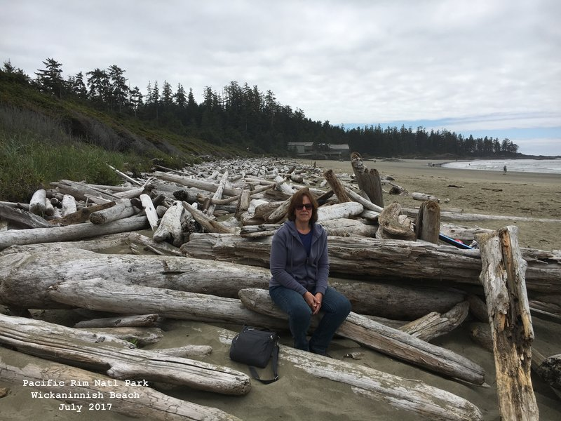 Sue in Pacific Rim National Park - Wickaninnish Beach