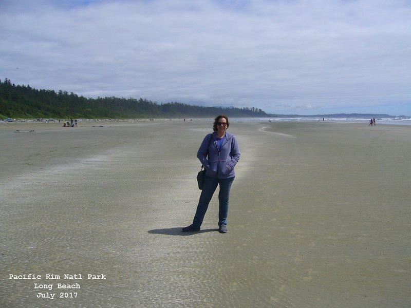 Sue in Pacific Rim National Park - Long Beach