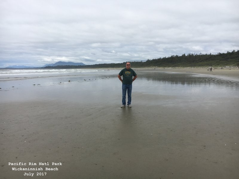 Jerry in Pacific Rim National Park - Wickaninnish Beach