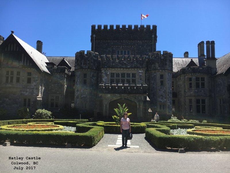 Sue at Hatley Castle