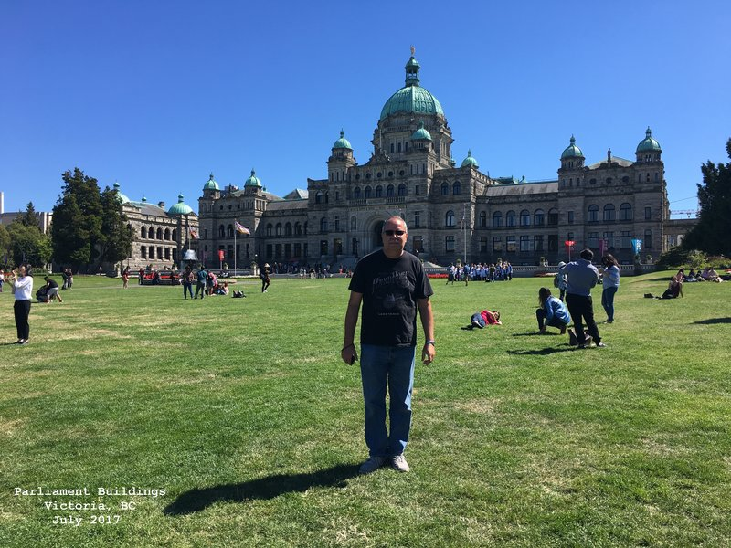 Jerry at British Columbia Parliament Buildings - Victoria